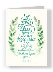 Bless You and Keep You 5x7 Folded Card