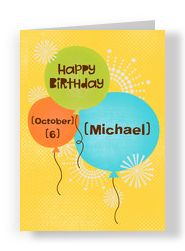 Birthday Balloons 5x7 Folded Card