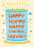 Happy Cake Day 5x7 Folded Card