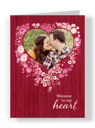 Floral Heart Frame 5x7 Folded Card
