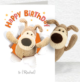 Bursting Boofle Birthday Card and Plush 5x7 Folded Card