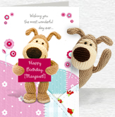 Boofles Birthday Banner Card and Plush 5x7 Folded Card