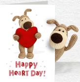 Happy Heart Day Card and Plush 5x7 Folded Card