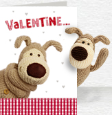 Valentine Hello Card and Plush 5x7 Folded Card