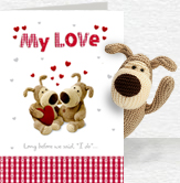 My Love Card and Plush 5x7 Folded Card