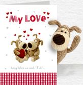My Love Card and Plush 5x7 Folded Card