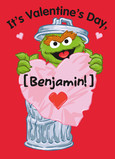 Happy Valentine Grouch 5x7 Folded Card