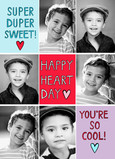 Super Valentine Hearts 5x7 Flat Card