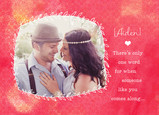 Vine Frame Valentine 7x5 Folded Card
