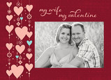 Wife Valentine Hearts 7x5 Folded Card