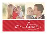 Love Stripe Script 7x5 Flat Card