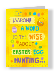 Wise Easter Hunt 5x7 Folded Card