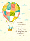 Patchwork Balloon 5x7 Folded Card
