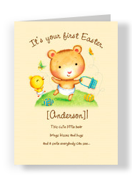 Baby Bear Easter 5x7 Folded Card