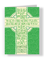Green Cross 5x7 Folded Card