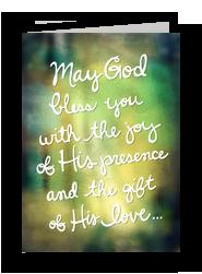 Gods Blessings 5x7 Folded Card