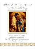 St Josephs Painting 5x7 Folded Card