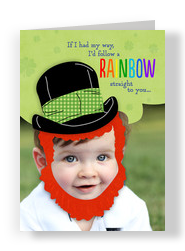 Personalized Leprechaun 5x7 Folded Card