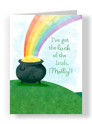 Pot of Gold 5x7 Folded Card