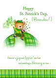 St Patricks Bear 5x7 Folded Card