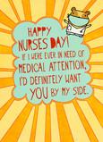 Sunburst Nurses 5x7 Folded Card