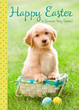 Golden Retriever Easter 5x7 Folded Card