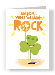 Clover Sham Rock 5x7 Folded Card