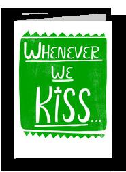 Little Jig Kiss 5x7 Folded Card