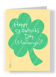 Luck Happiness Clover 5x7 Folded Card