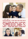 Photo Valentine Smooches 5x7 Folded Card