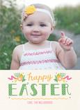 Polka Dot Easter Photo 5x7 Flat Card