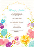 Happy Easter Invite 5x7 Flat Card