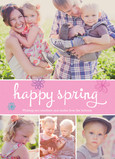 Pink Happy Spring 5x7 Flat Card