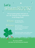 Lets Shamrock 5x7 Flat Card