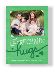 Leprechaun Hugs 5x7 Flat Card