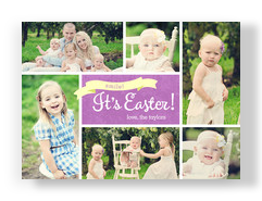 Purple Its Easter 7x5 Flat Card