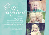 Easter Is Here 7x5 Flat Card