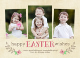 Floral Easter Wishes 7x5 Flat Card