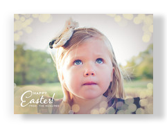 Bright Light Easter 7x5 Flat Card