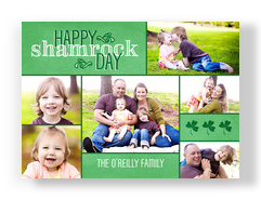 Shamrock Day 7x5 Flat Card