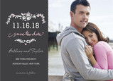 Grey Floral Date 7x5 Flat Card