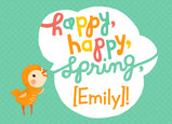 Happy Happy Spring 7x5 Folded Card