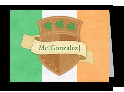 Irish Crest 7x5 Folded Card