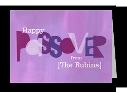 Happy Passover 7x5 Folded Card