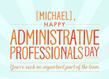 Happy Administrative Professionals Day 7x5 Folded Card