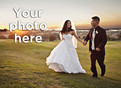 Horizontal Wedding Photo 5.25x3.75 Folded Card
