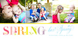 Colorful Spring with Photos 8x4 Flat Card