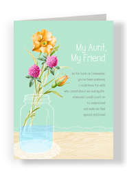 My Aunt, My Friend 5x7 Folded Card