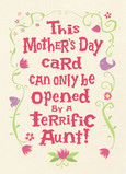 For a Terrific Aunt Only 5x7 Folded Card