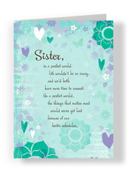 Sister Hearts 5x7 Folded Card